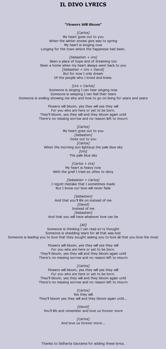 Hana-Il-Divo-lyrics